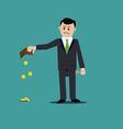 businessman bankrupt vector image