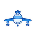 airplane line icon vector image