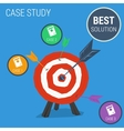 Concept case study with target vector image