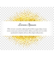Confetti celebration vintage gold postcard vector image