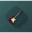 creative guitar icon vector image