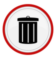 Garbage can icon vector image