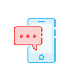 message notification like chat in smartphone vector image
