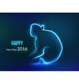 New Year 2016 background Year of monkey glowing vector image