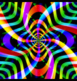 psychedelic background with spinning shapes vector image