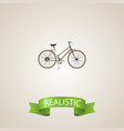 realistic woman cycle element vector image