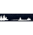 dark blue banner with New Year trees vector image vector image