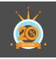 Twenty discount icon Sales design template vector image