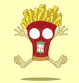 Monster french fries vector image