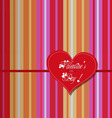 valentine colourful heart card vector image