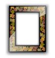 Glass photo frame Autumn design vector image