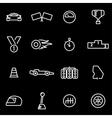 line racing icon set vector image