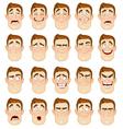 A young man emotions joy sadness hurt shock joy vector image vector image