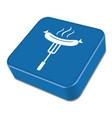 barbecue sausage icon vector image