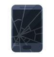 Broken phone vector image