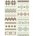 Collection of pixel retro brush templates vector image