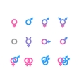 Colorful gender symbol and identity icons isolated vector image