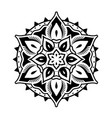 decorative and oriental mandala style ornaments vector image