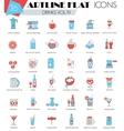 Drinks ultra modern outline artline flat vector image