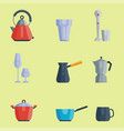 kitchen utensils icons vector image