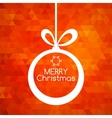 Merry Christmas ball card abstract red background vector image