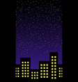 night building horizontal seamless pattern vector image