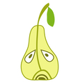 sad pear object vector image
