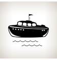 Silhouette boat on a light background vector image