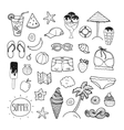 summer hand drawn collection vector image