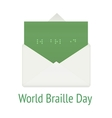 World braille day concept envelope vector image