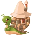 snail with mobil home vector image