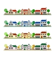 Eco Houses vector image vector image