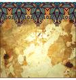 floral pattern in gold grunge background vector image vector image