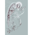 Artistic angel design vector image