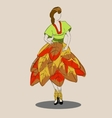 sketch of the dress vector image