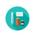 Pills flat icon vector image
