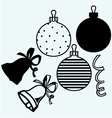 Set Christmas toys and decorations vector image vector image