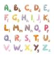English funny cartoon alphabet vector image