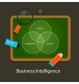 business intelligence concept management process vector image