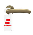 Do Not Disturb Sign With Door Handle vector image