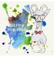 Hand Drawn Portrait of Hipster Goat vector image