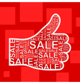 Hand sale vector image