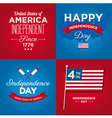 happy independence day usa cards vector image