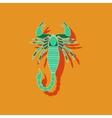 paper sticker on background of Scorpio vector image