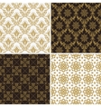 Seamless vintage floral background gold and black vector image
