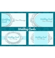 Weddiing card in vintage style vector image