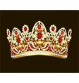 royal jewelry shiny gold crown with gems vector image vector image