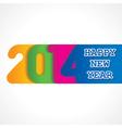 creative happy new year 2014 design vector image