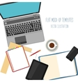 Flat mockups for design and infographics vector image