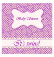 Baby-shower-abstract-background-twins vector image